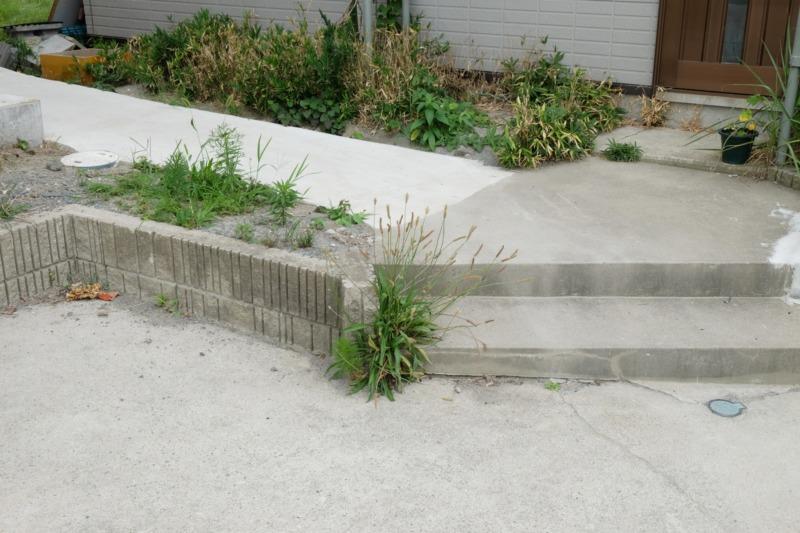 一戸建ての庭