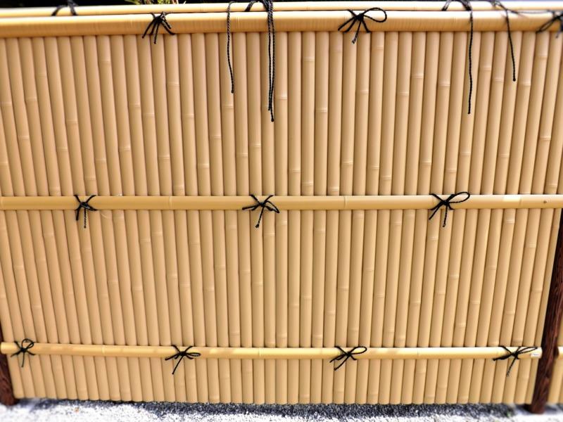 プラスチック竹垣