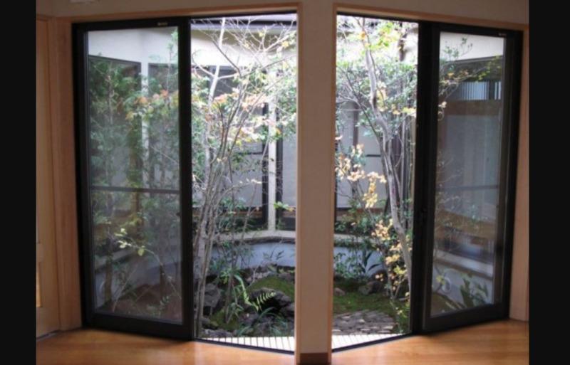 多角形の坪庭