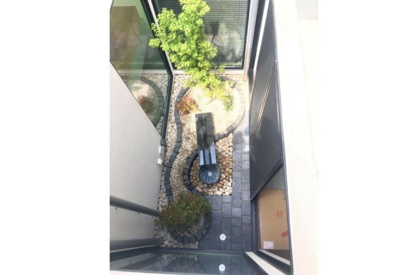 中庭の和風坪庭・水盤