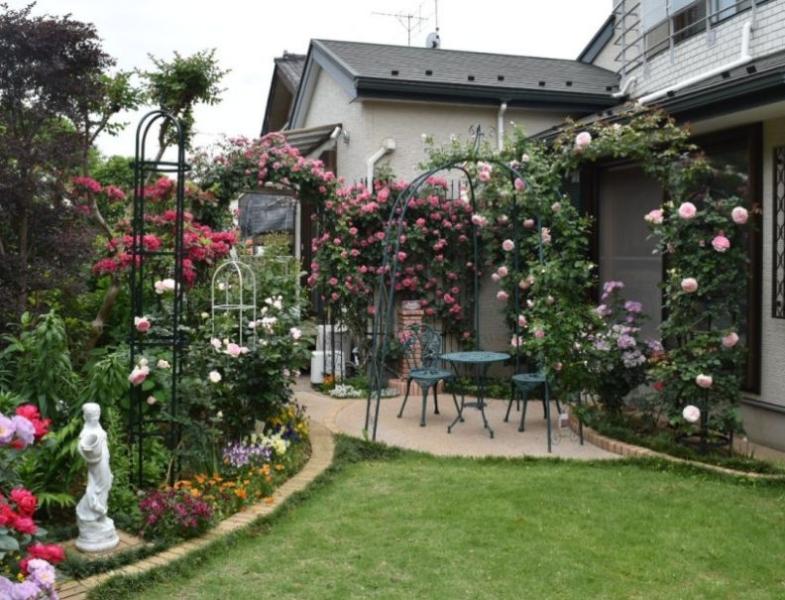 バラを楽しむお庭施工