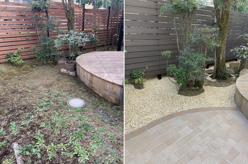 お庭リフォーム施工事例