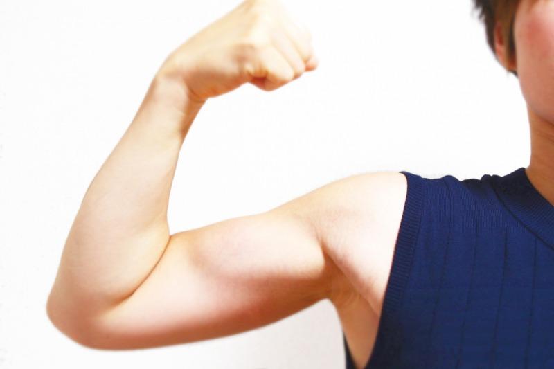 筋肉がついた腕